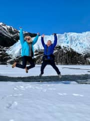 My daughter and I in Patagonia