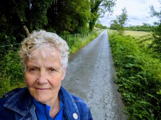 Here I am on a country road near my new home in Corofin, County Clare.
