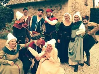 We are apart of Medieval Dance reenactment in France !