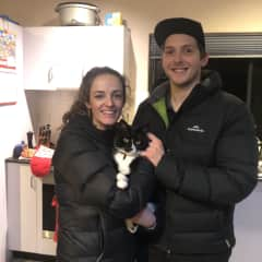 Shauni and Andy with Sheldon