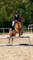 Me and Romeo during a jumping show