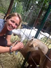 Me with my friend's goats
