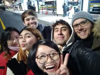 2017 New Year's Eve with friends in Seoul, Korea