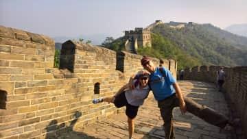 Leigh and Patsy exploring China!