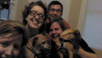 Mara, Hilary and our favorite chihuahuas (and their owners!)