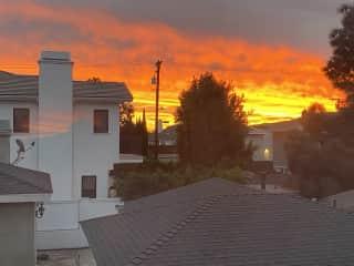 Morning sunrises from master bedroom
