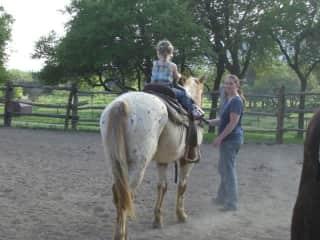 Nora and Sara Riding Horses in Texas
