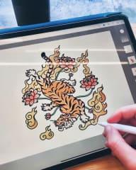 Sketching on my iPad Pro.