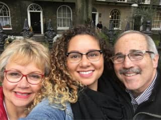 Myself, our daughter who lives in France, and my husband