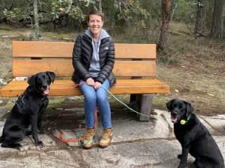 Jen, Enzo and Cricket - Victoria BC sit 2019