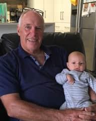 Malcolm & grandson no.3!