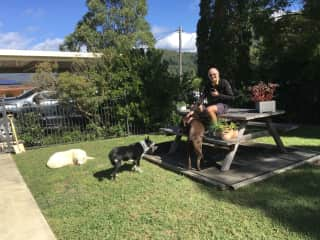 Bonnie, Kempsey & Molly with Trevor