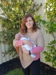Trudie and grandson