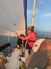 Sailing on the Dutch Ijsselmeer