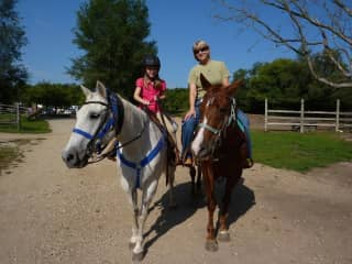 Riding with my granddaughter