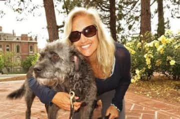 We love animals! Here's Kate with Maya in Berkeley.