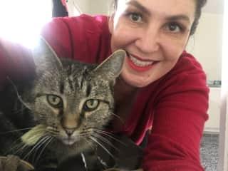Me and my 'grandcat' Bette Davis II