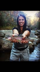 Heather's Fly Fishing Lesson...Catch and Release :)