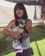Barbie Diaz & baby goat 🐐.
