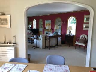 Sitting room from dining room