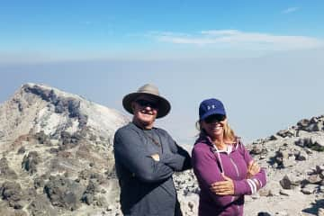 Just conquered the peak at Mt. Lassen National Park