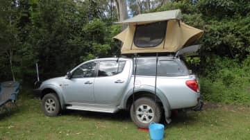 Camping at NSW border ranges