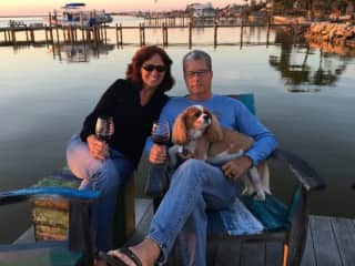 This is MaryAnn, Gary and Bentley (my love and friends dog).  Taken in Cocoa Beach, FL 2018