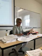 I am currently a adjunct (part-time) college professor. I love teaching!