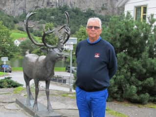 Harald and friend in Norway