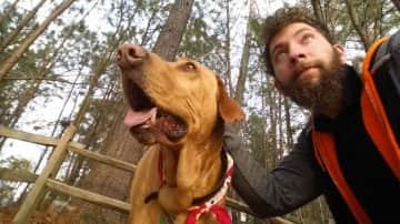 Riley & family dog Osage