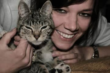 Back in the old days .... my first cat 'Katti'.