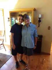 This is a picture of me with my oldest grandson.