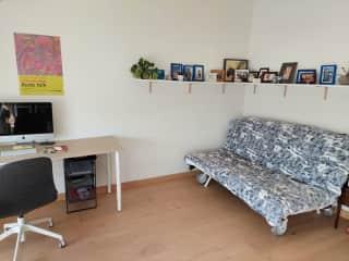Updated guest bedroom.