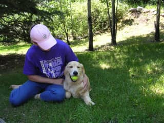 Debby and Jackson at home in Colorado