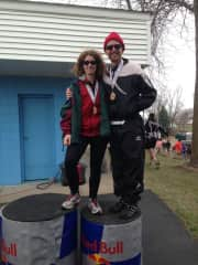 We both took 2nd in our age groups at this duathlon.