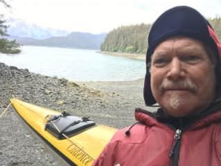 Jim kayaking in Alaska.