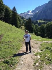 Richard Hiking in Switzerland