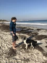 Love a beach walk and swim