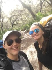 Kayla and I backpacking on Cumberland Island