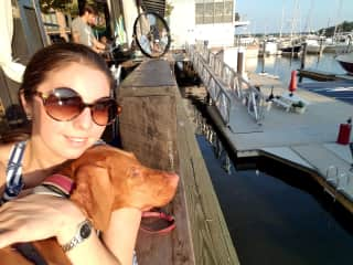 Monica and Baby Cali enjoying a sunny afternoon on the SW Waterfront!