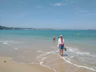 Mary-Jane on the beach