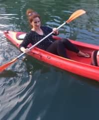 Katarina canoeing