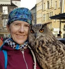 With Hazel, EurasianEagleOwl, Edinburgh