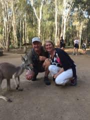 Jim & Deb with the Australian natives