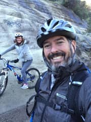 Edward and I cycling at Rockville Hills Park, Fairfield, CA