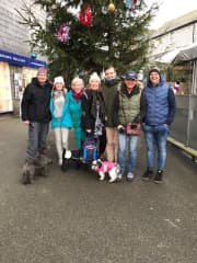 Showing the Oz family the delights of Padstow and a pastie lunch