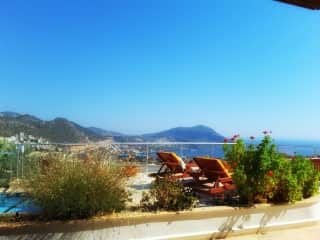 The view from our beautiful home  in Kalkan.