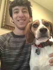 Michael and his family's third beagle, Jax