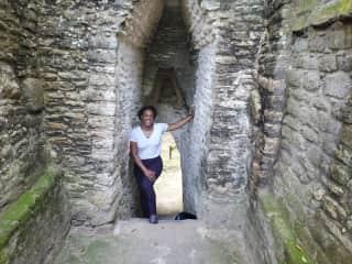 Exploring Maya ruins in Belize