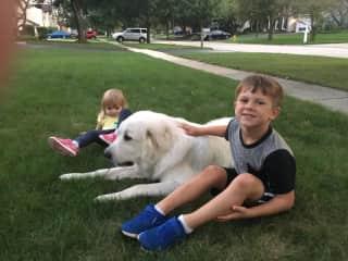My kids with their friend Augie